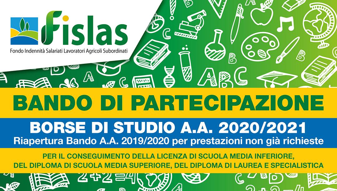 FISLAS_BORSA DI STUDIO 2021_LOCANDINA SA3